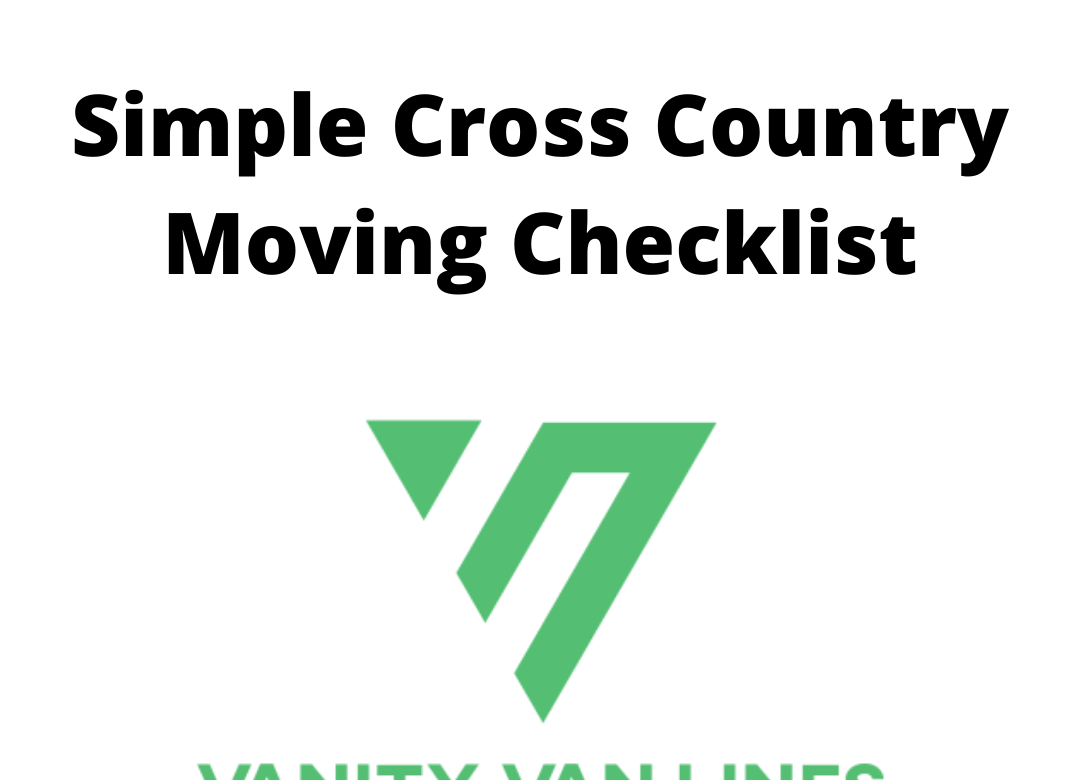 Cross Country Moving Checklist